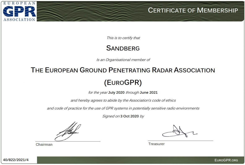 EuroGPR Membership July 2020 June 2021