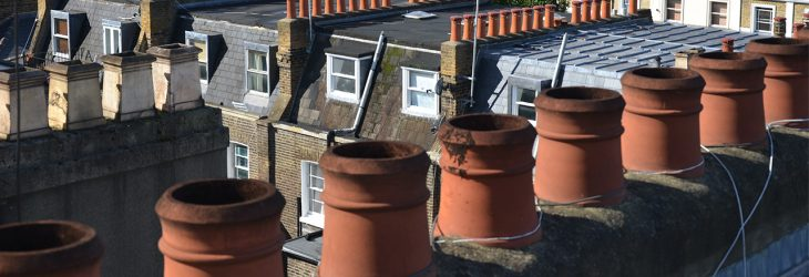 Chimney pots in London