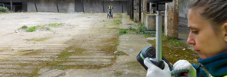 GPR survey to locate pad foundations