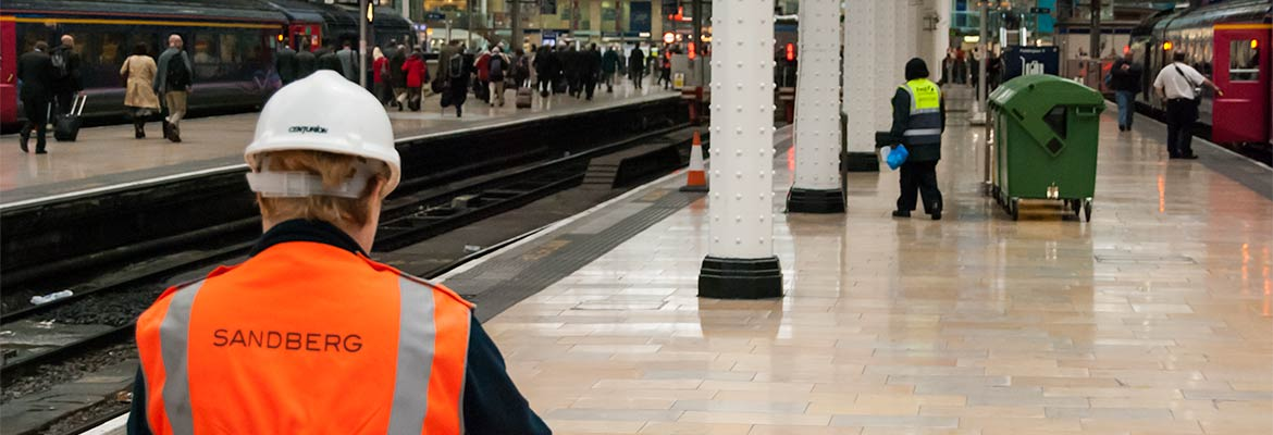 GPR survey of a platform at Paddington station