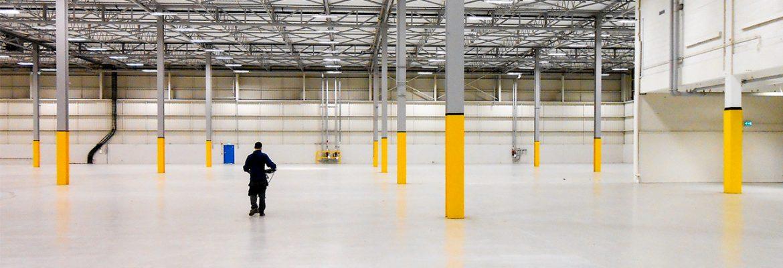 GPR scanning of warehouse floor slab to locate pile caps