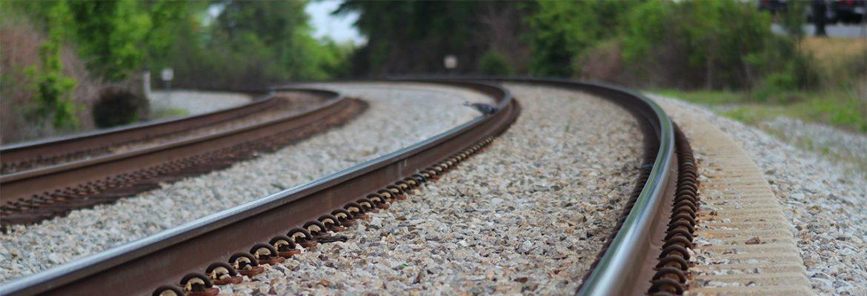Railway tracks with ballast