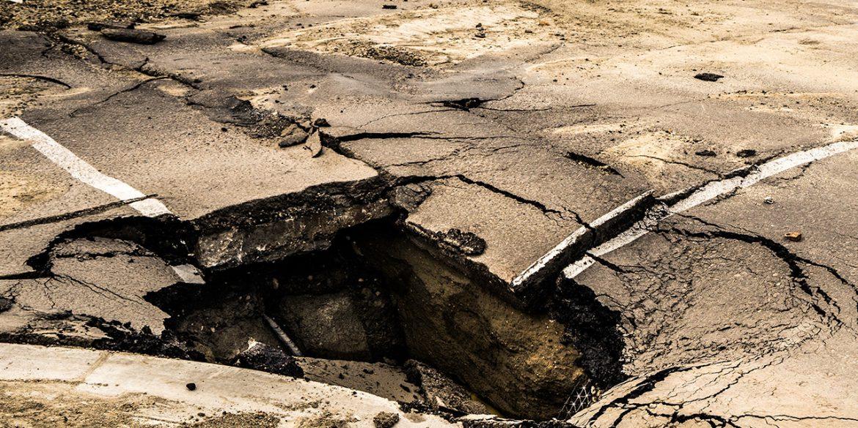 Void below asphalt road